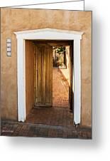 Doorway - Mesilla New Mexico Greeting Card
