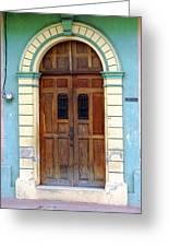 Doorway Of Nicaragua 001 Greeting Card
