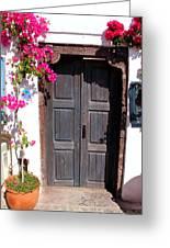 Doorway Oia Santorini Greek Islands Greeting Card