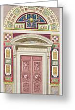Doorway To The Raphael Loggia Greeting Card