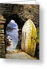 Doorway To The Sea Greeting Card