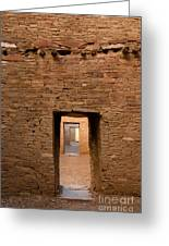 Doorways In Pueblo Bonito Greeting Card