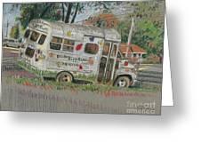 Doodlebugs Bus Greeting Card