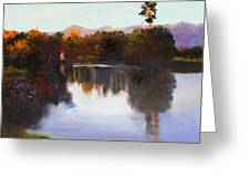 Dorado Waterhole Oil Greeting Card