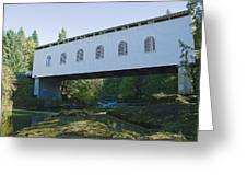 Dorena Covered Bridge 2 Greeting Card