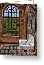 Dormer And Bathroom Greeting Card by Susan Candelario
