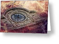 D'orsay Clock Paris Greeting Card
