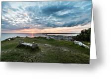 Dorset Chesil Beach Greeting Card