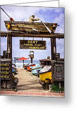 Dory Fishing Fleet Market Newport Beach California Greeting Card by Paul Velgos
