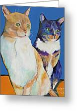 Dos Amores Greeting Card by Pat Saunders-White