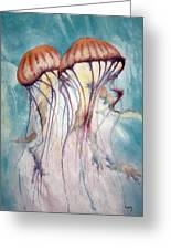 Dos Jellyfish Greeting Card