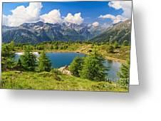 Doss Dei Gembri Lake In Pejo Valley Greeting Card