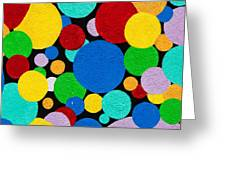 Dot Graffiti Greeting Card by Art Block Collections
