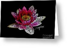 Dots Of Flowers Greeting Card