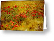 Dots Of Red Greeting Card