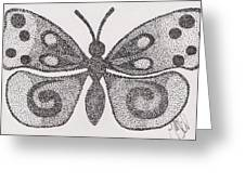Dotted Butterfly Greeting Card
