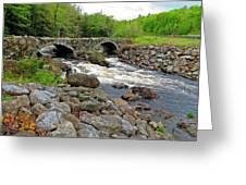 Double Arch Bridge Greeting Card
