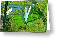 Double-arched Bridge Spanning Birdsong Hollow At Mile 438 Of Natchez Trace Parkway-tennessee Greeting Card