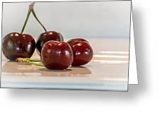 Double Cherry Greeting Card