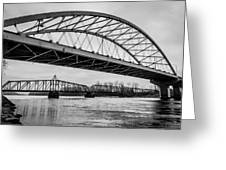 Double Crossing Greeting Card