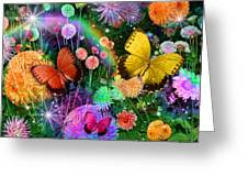 Double Dahlia Flower Party Greeting Card