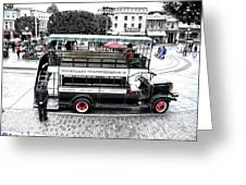 Double Decker Bus Main Street Disneyland Sc Greeting Card