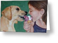 Double Dip - Ice Cream For Two Greeting Card