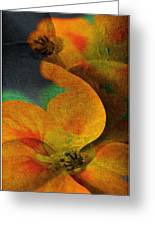 Double Exposure The Flowers Greeting Card