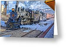Double Header Nevada Northern Railway #1 Greeting Card