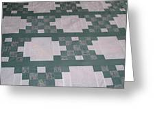 Double Irish Chain Quilt Greeting Card