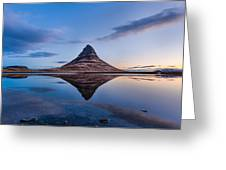 Double Kirkjufell Iceland Greeting Card