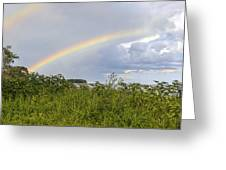 Double Rainbow Sheffield Island Greeting Card