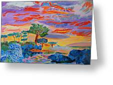 Candy Coated Monterey Sunset Greeting Card