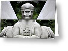Double Sphinx Greeting Card