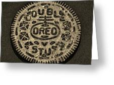 Double Stuff Oreo In Sepia Negitive Greeting Card