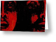 Double Vision 2 Greeting Card