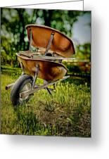 Double Wheelbarrow Greeting Card
