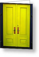 Double Yellow Doors Greeting Card