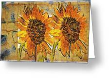 Double Yellowed Greeting Card