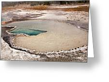 Doublet Pool In Upper Geyser Basin In Yellowstone National Park Greeting Card