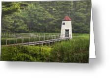Doubling Point Range Lights Greeting Card
