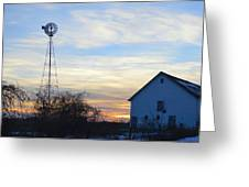 Dougherty Barn Panorama Greeting Card