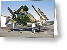 Douglas Ad-5 Skyraider Attack Aircraft Greeting Card
