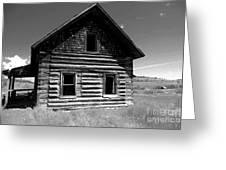 Douglas Lake Homestead Black And White II Greeting Card