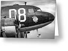 Douglass C-47 Skytrain - Nose Section - Dakota Greeting Card