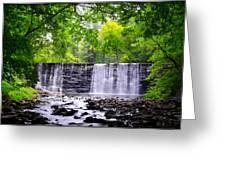 Dove Lake Waterfall At Gladwyne Greeting Card