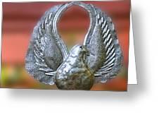 Garden Dove Of Peace Sculpture Greeting Card