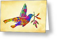Dove With Olive Branch Greeting Card