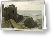 Dover Castle, From A Voyage Around Greeting Card