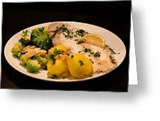 Dover Sole Fish Dinner Greeting Card
